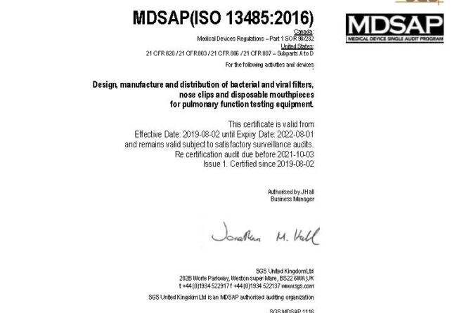 M.R.D. obtains quality certificate according to standard: MDSAP (ISO13485: 2016)